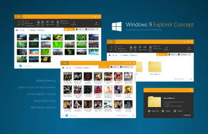 Windows 9 Explorer Concept BETA1 by fediaFedia