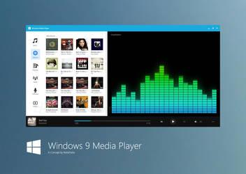 Windows 9 Media Player Concept by fediaFedia
