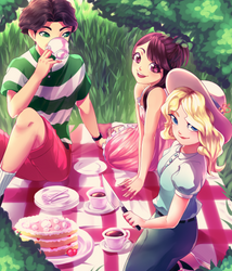Little Witch Tea Party by Kanimimi
