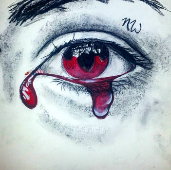Crying Blood - Charcoal by NorthwestPurity