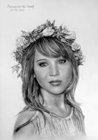 Jennifer Lawrence by kansineedegraefart
