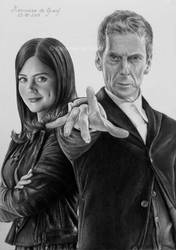 12th Doctor and Clara Oswald by kansineedegraefart