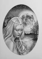 Goddess of the Moon by kansineedegraefart