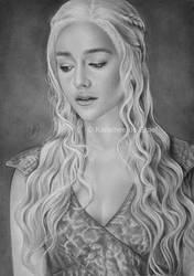 Daenarys Targaryen by kansineedegraefart