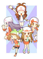 Pokemon Girls by airana