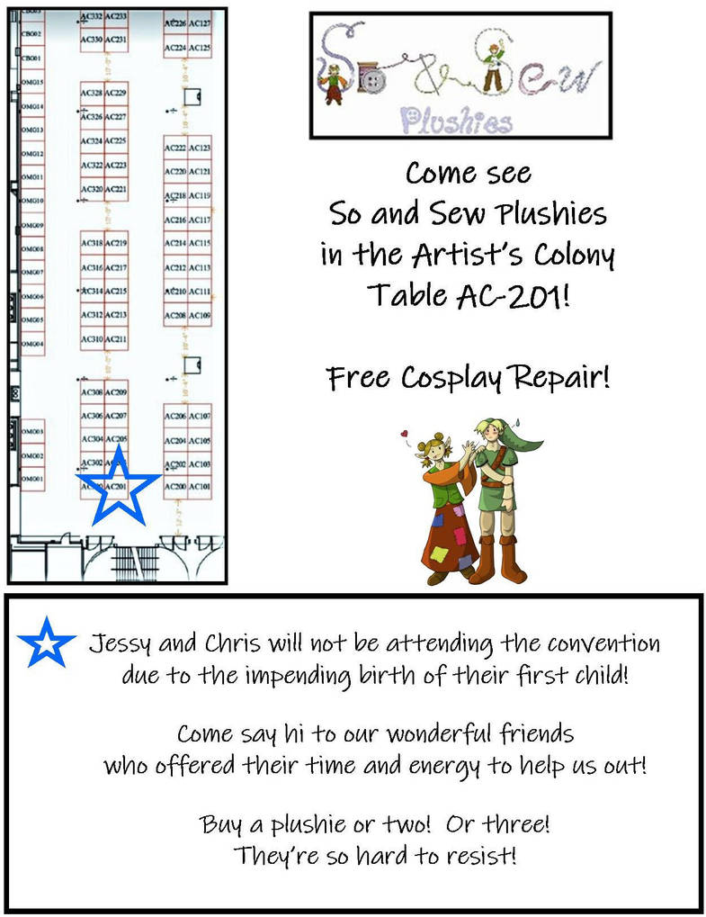 CTCON 2018 Artist Colony Map by SoandSewPlushies