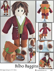 Bilbo Baggins Plushie by SoandSewPlushies