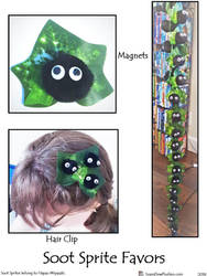 Soot Sprite Favors by SoandSewPlushies