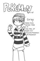 Pokemon Special: Gray by Penciled-Cookie
