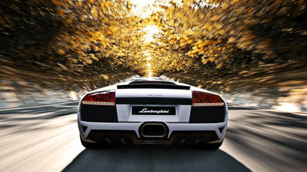 Lamborghini Murcielago in Autumn - 1080p Wallpaper by EmptySoulR35