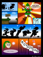 Link and the Boots by Reba-Joy