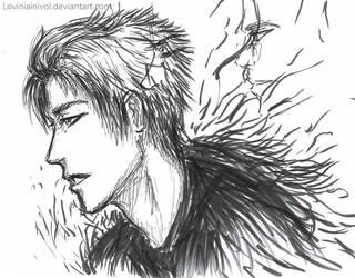Daily sketch brush pen by Loviniainivol