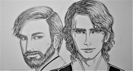 Anakin and Obi-wan by Loviniainivol
