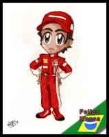 F1 chibis- Felipe Massa by Noe-Izumi
