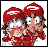 F1 chibis- Say HI by Noe-Izumi