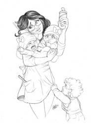 Overworking mom by Noe-Izumi