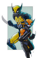 mor 02 mecha logan and x23color by adivider