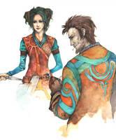 Gwayn and Smitty by Tokala