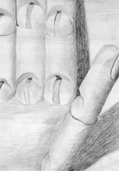 Graphite Hand Model Study by Metamorphosing