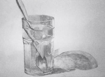 Spoon in a Glass of Water Study by Metamorphosing