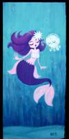 Mermaid and White Mr. Squii by fuish