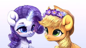 Rarity x Applejack by GrayPillow