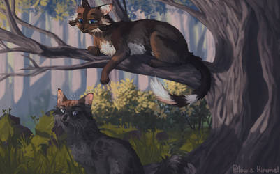 Hawkfrost and Ashfur [Collab] by GrayPillow