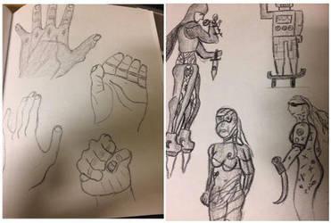Figure Drawing Sketchbook: Week 6 by MasqueradeOfSilence