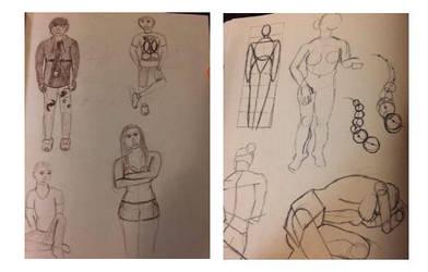 Figure Drawing Sketchbook: Week 7 by MasqueradeOfSilence
