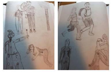 Figure Drawing Sketchbook: Week 10 by MasqueradeOfSilence