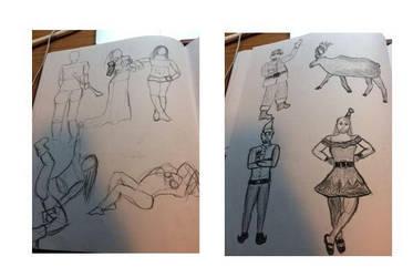 Figure Drawing Sketchbook: Week 11 by MasqueradeOfSilence