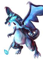 Pokemon Mega Charizard X by Advent-Hawk