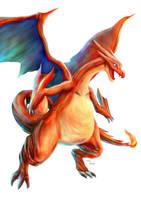 Pokemon Mega Charizard Y by Advent-Hawk