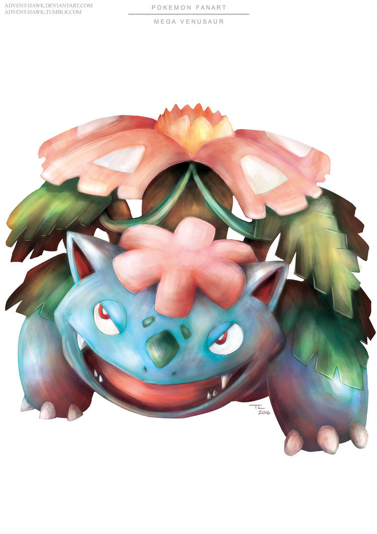 Pokemon Mega Venusaur by Advent-Hawk