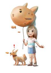 Balloon Fish by Advent-Hawk