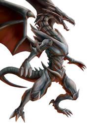 Yu-Gi-Oh! - Red-Eyes Black Dragon by Advent-Hawk