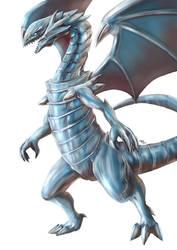 Yu-Gi-Oh! - Blue-Eyes White Dragon by Advent-Hawk