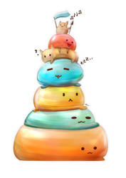 The Tower of Squishies by Advent-Hawk