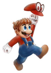 Mario and Cappy by Advent-Hawk