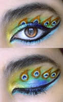 Peacock eye make-up remake by sharmz