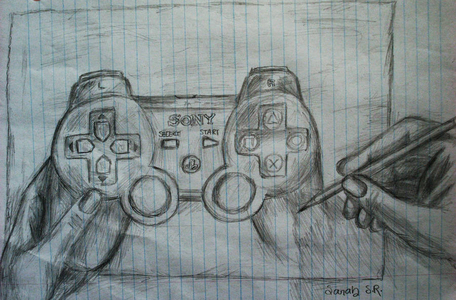 Sketch Ps3 Remote Drawing By Sky Cool13 On Deviantart