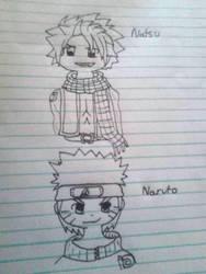 Natsu, Naruto by pattywonders