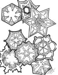 Snow Flakes by PeriwinklePaisley