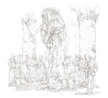 Father of the sun lineart(WIP) by TimofeyStepanov