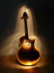 Guitar and light by musicaislife