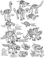 Alien Animals Shells by stinkywigfiddle