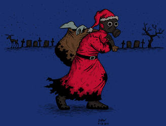 Plague Santa by stinkywigfiddle