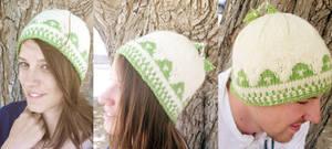 Knit Ordon Village Triforce Hat by kateknitsalot