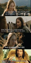Eowyn and Aragorn go to the Thriftshop by kateknitsalot