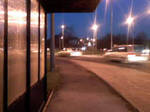 bus stop at night stock by Theshelfs